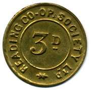 3 Pence - Reading CSL – obverse