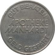 Manhardt Taler - Apotheke Manhardt (Augsburg) – obverse