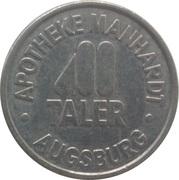 Manhardt Taler - Apotheke Manhardt (Augsburg) – reverse