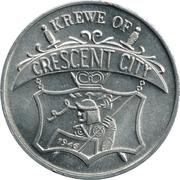 Mardi Gras Token - Krewe Of Crescent City (New Orleans) – obverse