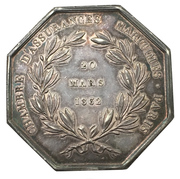 Token - Maritime Insurance Company of Paris – reverse