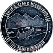Token - Conoco Along The Lewis And Clark Trail (Canoe) – reverse