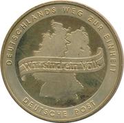 Token - Deutsche Post (Wiedervereiningung) – reverse
