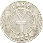 Fare Check Token - Valley Transportation (Lemoyne, Pennsylvania) -  reverse
