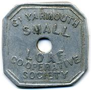 Token - Small Loaf, Gt Yarmouth CS (Norfolk) – obverse
