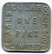 1 Pint - Earls Colne CSL (Essex) – obverse