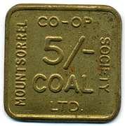 5 Shillings Coal - Mountsorrell CSL (Leicestershire) – obverse