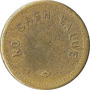 Token - No Cash Value (Diamond; Brass; 18 mm) – reverse