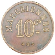 10 Centimes - Marchiennes (Charlroi) – reverse