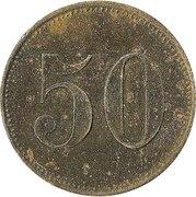 50 Pfennig (Werth Marke) – reverse