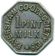 1 Pint Milk - Faversham CSL (Kent) – obverse