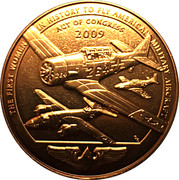 Medal - The Women Airforce Service Pilots – reverse