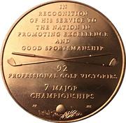 Medal - Arnold Palmer – reverse