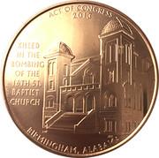 Medal - 16th Street Baptist Church Bombing Victims – reverse
