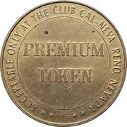 Premium Token - Club Cal-Neva (Reno, Nevada) – reverse