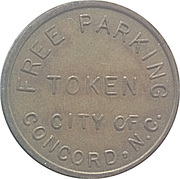Parking Token - Free Parking (Concord, North Carolina) – obverse