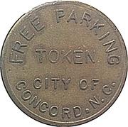 Parking Token - Free Parking (Concord, North Carolina) – reverse