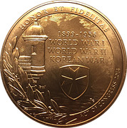 Medal - U.S. Army 65th Infantry Regiment – reverse