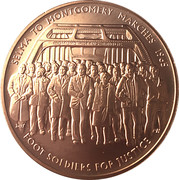 Medal - 1965 Selma to Montgomery Voting Rights Marches – obverse