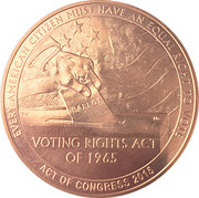 Medal - 1965 Selma to Montgomery Voting Rights Marches – reverse
