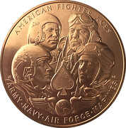 Medal - American Fighter Aces – obverse
