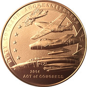 Medal - American Fighter Aces – reverse