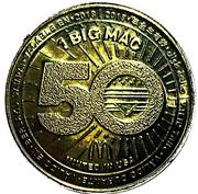 Token - 1 Big Mac (Commemorative 50 years; 2008-2018) – reverse