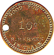 10 Cents - B. Hermes – obverse