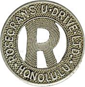 1 Fare - Rosecrans U Drive Ltd. (Honolulu) – obverse