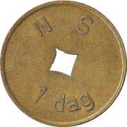 Tokan - 1 dag N S (Nederlandse Spoorwegen) – obverse