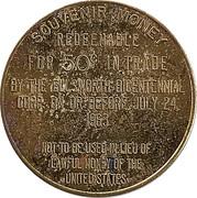 50 Cents - Ellsworth Maine Bicentennial (Ellsworth, Maine) – reverse