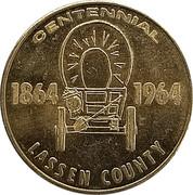 50 Cents - Lassen County Centennial (Lassen County, California) – obverse