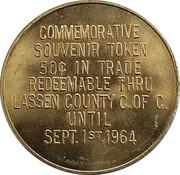 50 Cents - Lassen County Centennial (Lassen County, California) – reverse