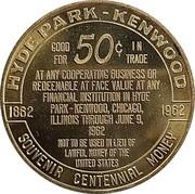 50 Cents - Hyde Park - Kenwood (Chicago, Illinois) – reverse