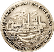 Token - Colebrook Furnace and Coke Ovens (Lebanon Valley, PA Coin Club; Silver) – obverse