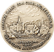 Token - Colebrook Furnace and Coke Ovens (Lebanon Valley, PA Coin Club; Silver) – reverse