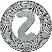 Reduced Rate Fare - Scranton Railway Company (Scranton, Pennsylvania) – reverse