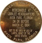 ½ Dollar - 75th Anniversary Avon Park (Avon Park, Florida) – reverse
