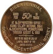 50 Cents - Bicentennial McSherrystown (McSherrystown, Pennsylvania) – reverse