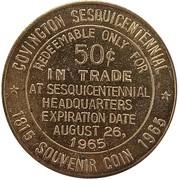 50 Cents - Covington Sesquicentennial (Covington, Kentucky) – reverse