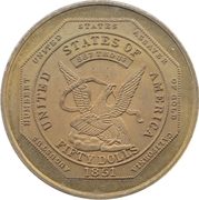 2 Cents - Donald H. Kagin for A.N.A. Governor – obverse