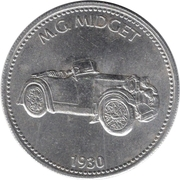 Token - Shell (M.G. Midget 1930) – obverse