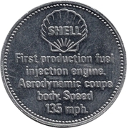 Token - Shell (Mercedes Benz 300SL 1954) – reverse