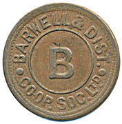 Token - Barwell & District CSL (B) – obverse