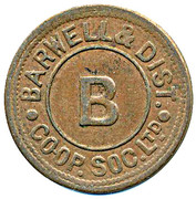 Token - Barwell & District CSL (B) – reverse