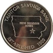 Token - Taintor Savings Bank (New Sharon, Iowa) – obverse