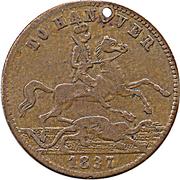 Cumberland Jack Token - Victoria (To Hanover) – reverse