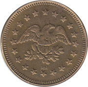 Token - No Cash Value (Eagle looking right; 23 mm; Brass; HH) – obverse