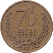 Token - 76  Lucky  Piece – obverse