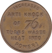 Token - 76  Lucky  Piece – reverse